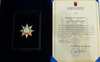 """Presidenti i Republikes se Shqiperise, i jep Maraton Albania, titullin """"Naim Frasheri"""""""
